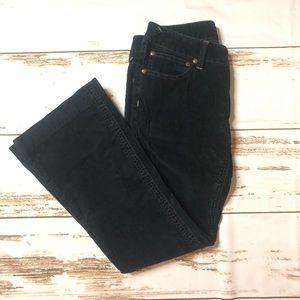 Free People Black Corduroy Pants Boot Cut